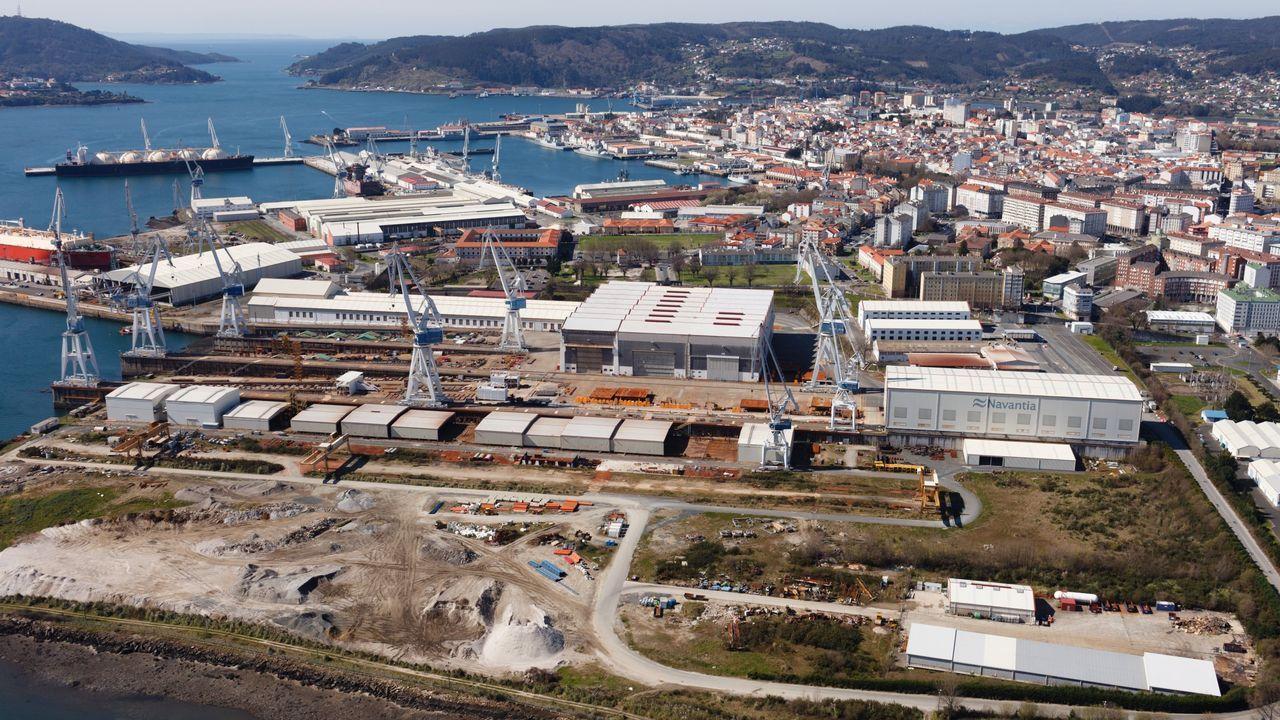 Navantia -en foto de archivo- prevé ubicar las nuevas infraestructuras en las proximidades de las gradas