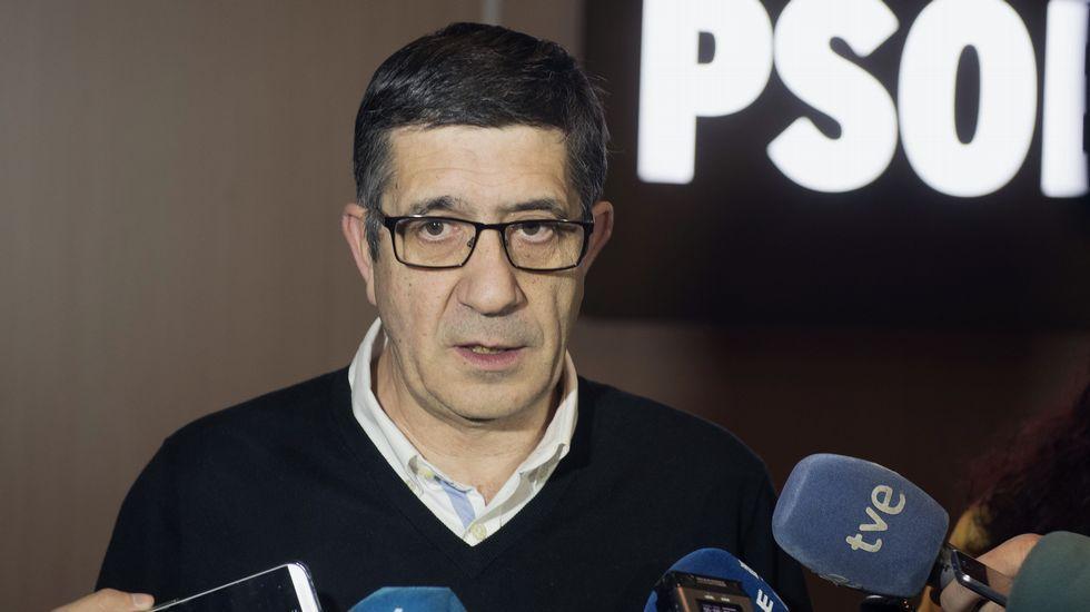 Patxi López acusa a Pablo Iglesias de querer «destrozar» el PSOE.Mariví Monteserín