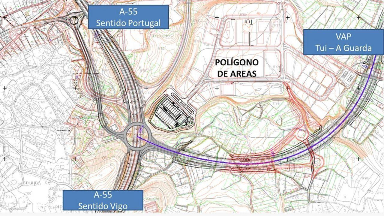 La subida a O Picato, en la N-540, fue uno de los puntos más problemáticos para el tráfico