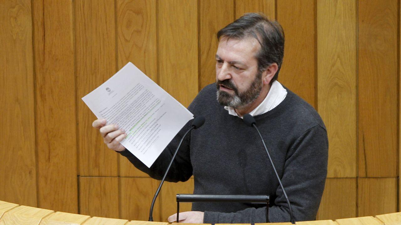 Luis Bará (en la imagen en una intervención en una sesión parlamentaria anterior) fue el encargado de defender la propuesta del BNG