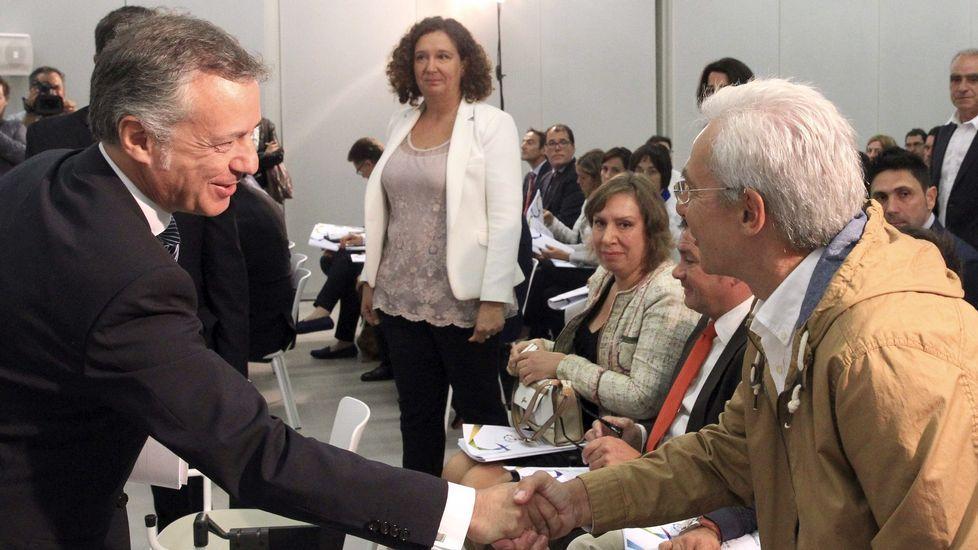 Las elecciones catalanas, muy presentes en el Alderdi Eguna.Inés Arrimadas y Albert Rivera