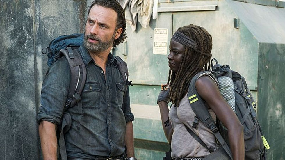 El avance del nuevo capítulo de «The Walking Dead», «Say Yes».Andrew Lincoln, el actor que interpreta a Rick, en el acto en Madrid