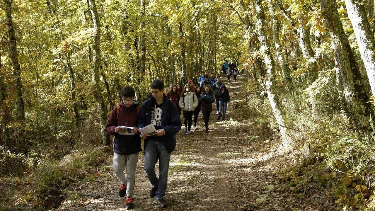 Una visita a la mina del Burato do Lobo.Ruta didáctica ambiental por el Macizo Central de la provincia de Ourense