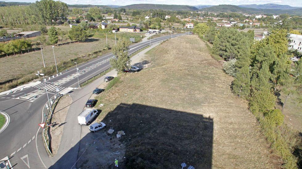 Terrenos en los que se ubicará el parque, en los que una empresa pretendía instalar una gasolinera