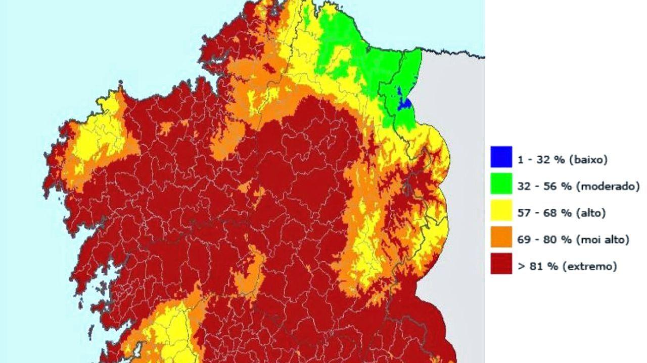 Ayer, buena parte de la provincia de Lugo estaba en máxima alerta