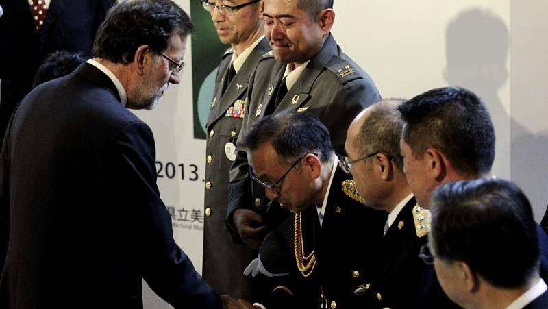 Tercer aniversario del devastador tsunami de Japón.Rajoy, con los «héroes de Fukushima»