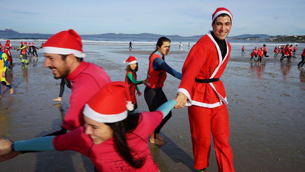 Navidad surfera en Patos.Cocina del HUCA