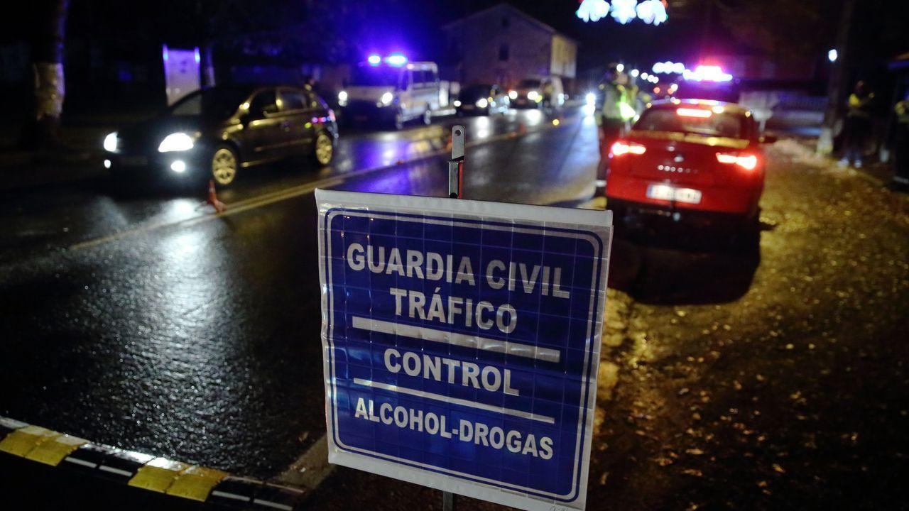 Control de alcoholemia realizado por la Guardia Civil