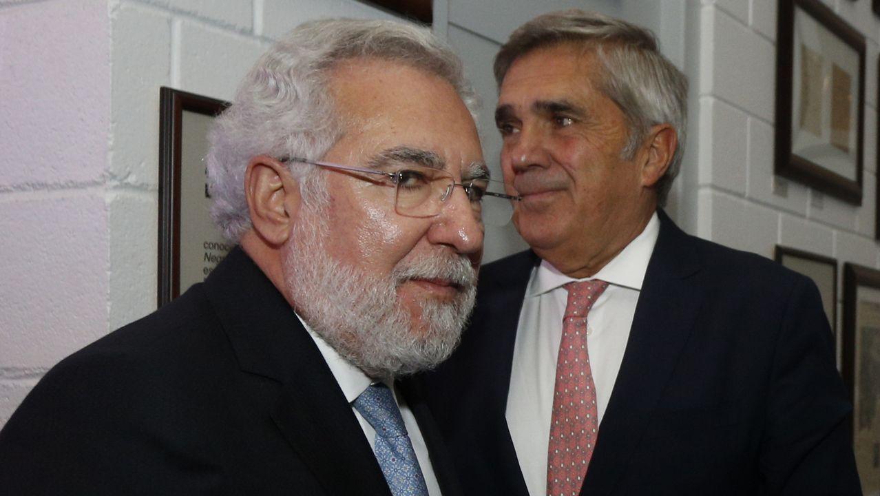 Miguel Á. Santalices, presidente del Parlamento gallego, y Javier González-Babé, de Babé y Cía.