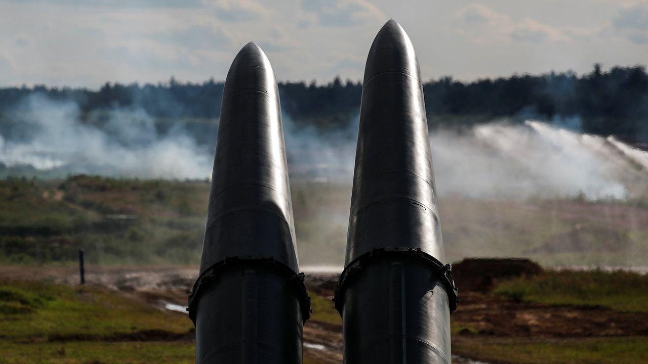 Misiles rusos de la serie Iskander-M en el complejo militar donde se frabrican