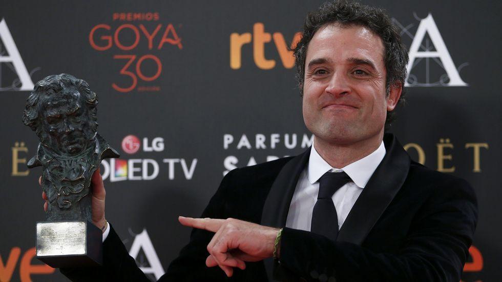 Fernando León de Aranoa, tras recibir el Goya al Mejor Guión Adaptado por «Un día perfecto»