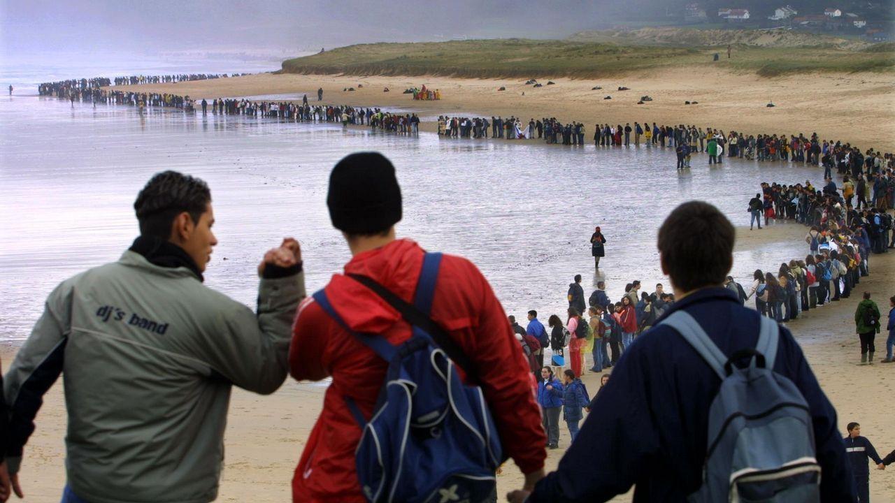 Nunca Máis por la ría.Candidatos de Galicia en Común-Anova Mareas en la presentación de su programa electoral