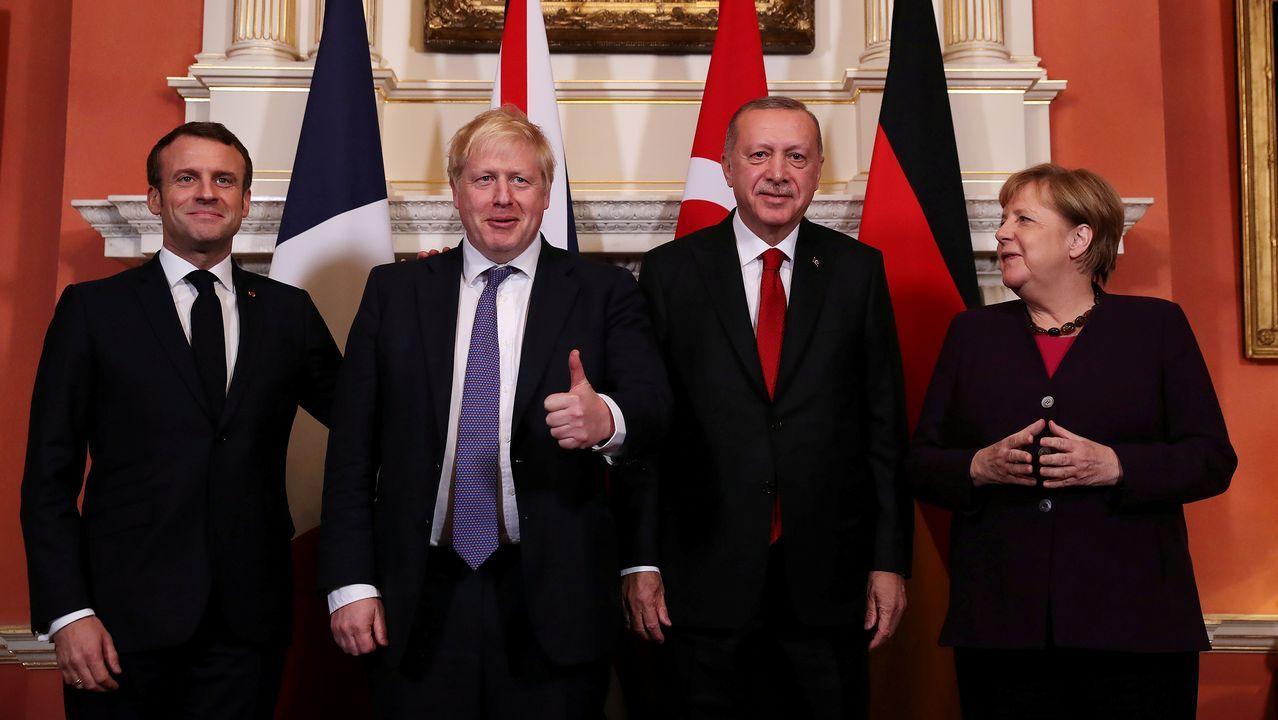 Johnson invitó a Downing Street a Macron, Erdogan y Merkel antes de la cumbre de la OTAN