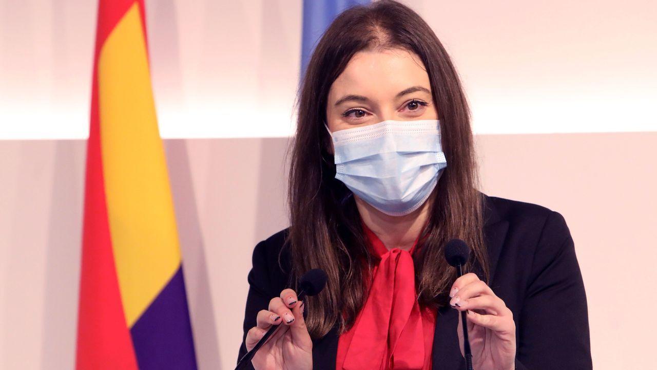 Eva Solla hizo balance del año 2020 por parte de Esquerda Unida, en una rueda de prensa ofrecida este lunes