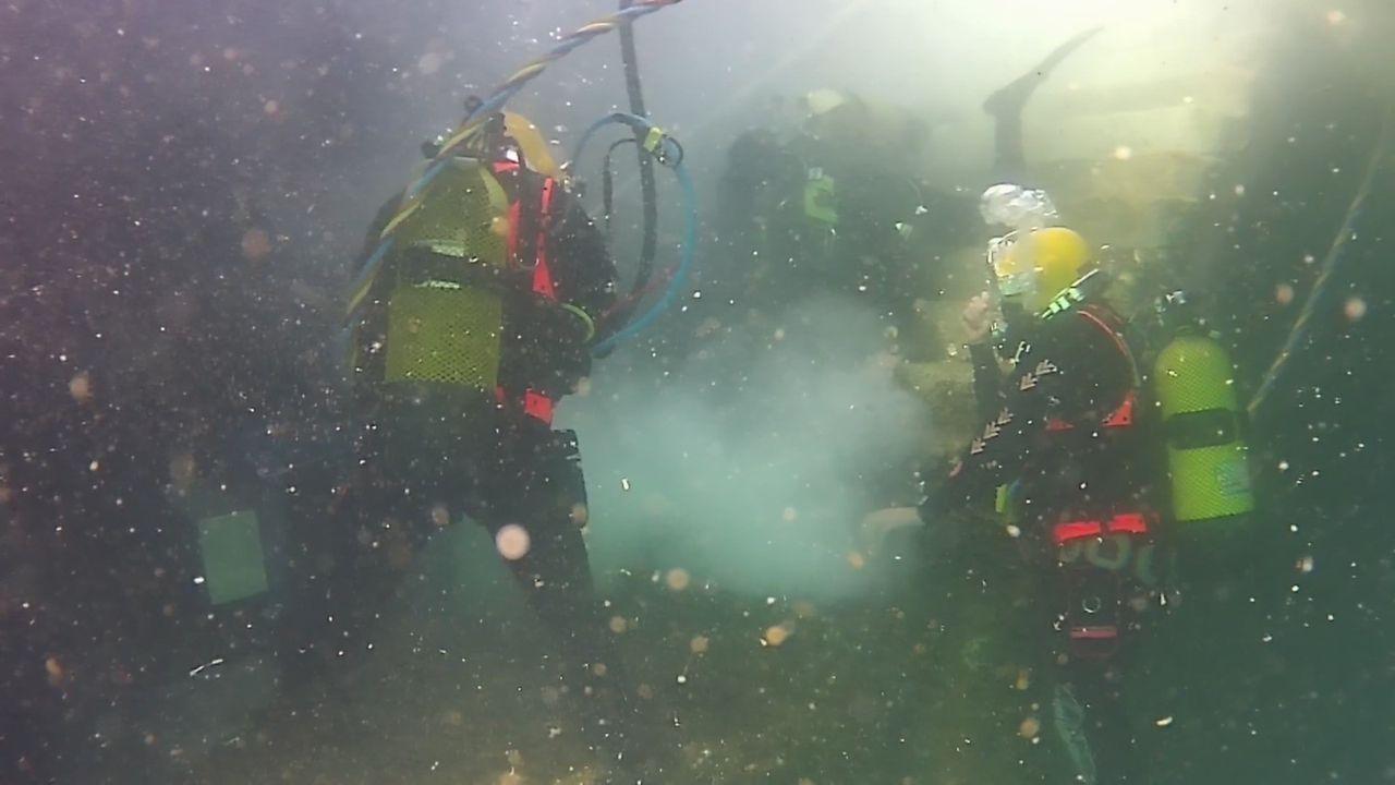 El Batallón de Zapadores actualiza procedimientos de actuación en colaboración con la Unidad de Buceo de la Armada
