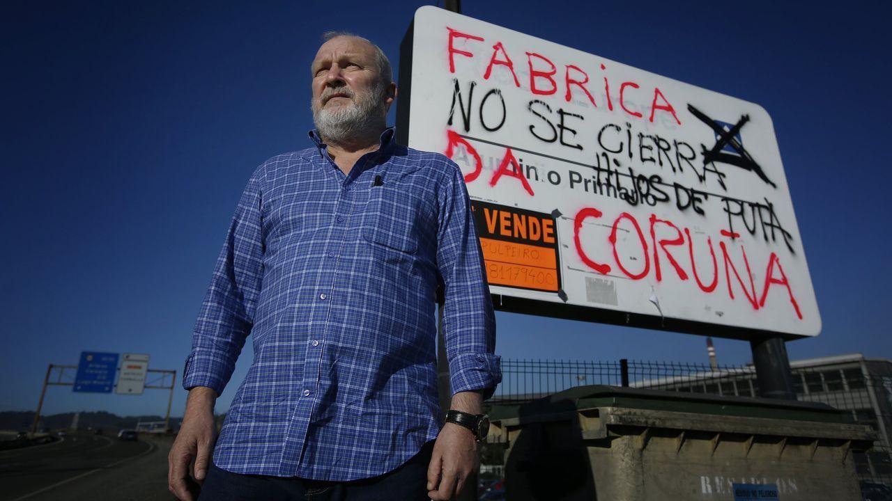 Nazario Arias era el trabajador más veterano de Alcoa en la planta de A Gela