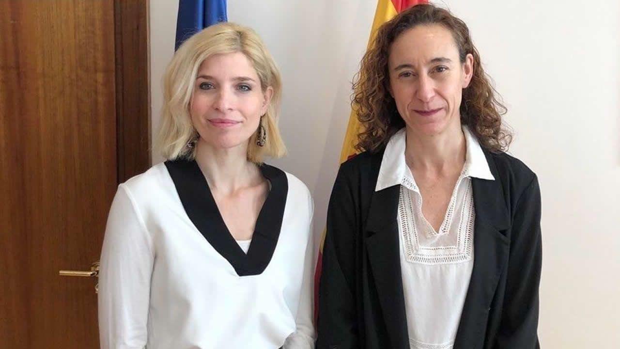 La secretaria de Estado de Migraciones, Hana Jalloul y la directora general de Políticas Migratorias, Patricia Ruiz, en una imagen de archivo