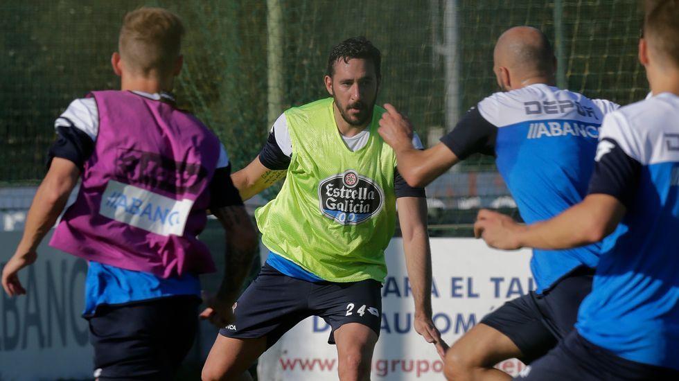 Jonás entrena con el Deportivo