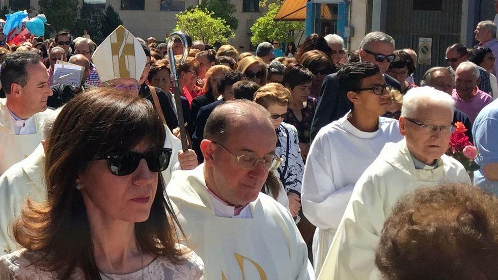 Nuria Cotarelo, de A Rúa, y su marido, Asier Martínez