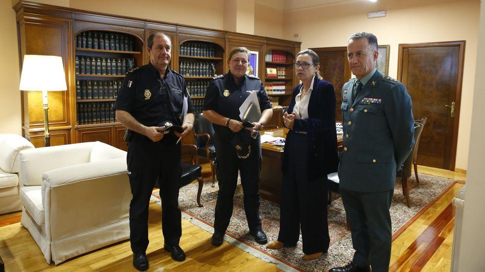 El ministro del Interior en funciones, Fernando Grande Marlaska, interciene en el acto conmemorativo de la festividad de la patrona de la Guardia Civil, la Virgen del Pilar, celebrado en Huesca el pasado día 6