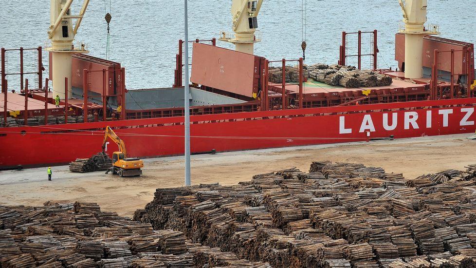 Vista de una operación con madera en Caneliñas