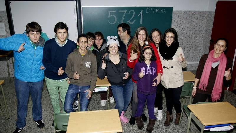 Los niños del colegio Doña Emma celebran el quinto premio