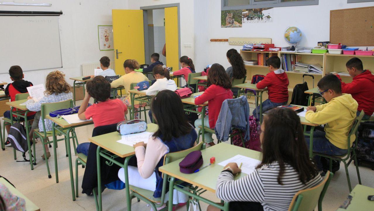 Un grupo de alumnos del colegio Padre Feijoo de Allariz, en una imagen de archivo
