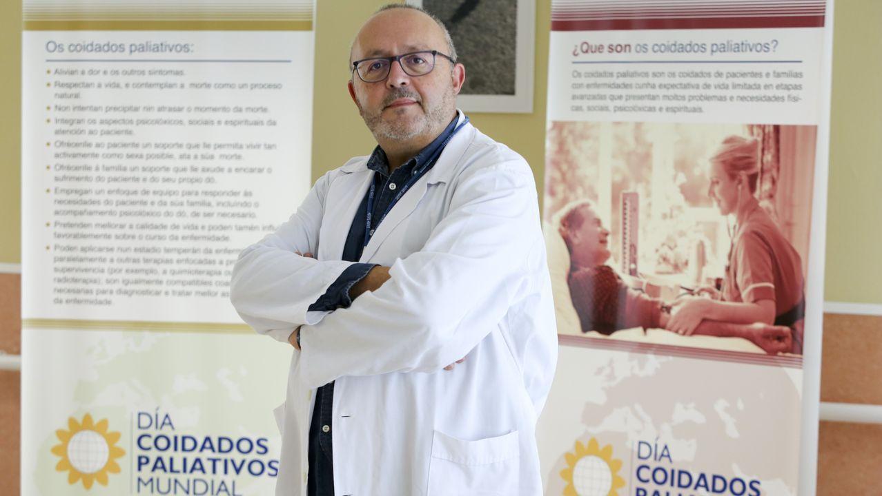 La nueva cocina del CHUF.Marcelino Mosquera Pena, presidente de la sociedad gallega de cuidados paliativos