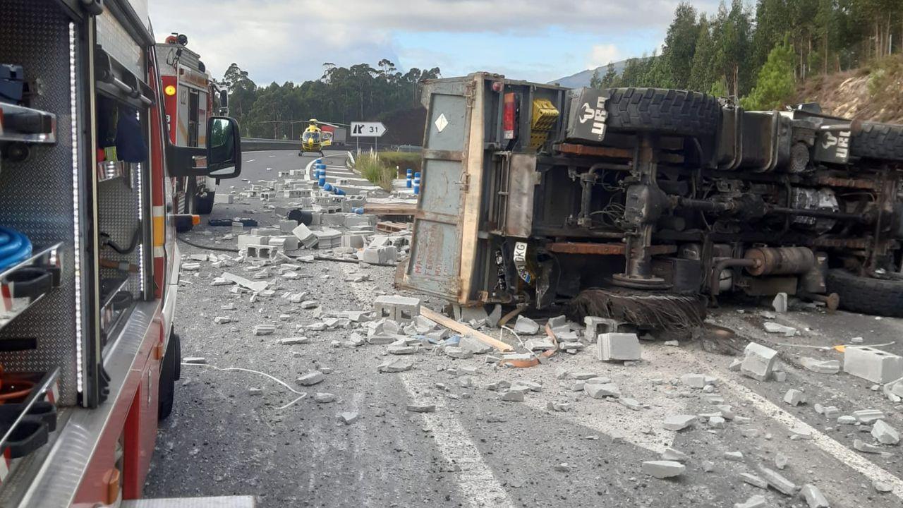 Accidente en la autovía de Barbanza en Ribeira