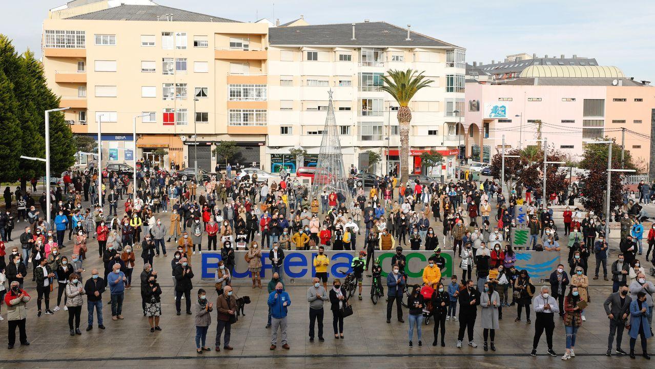 Concentración de este domingo en Burela, reclamando la reapertura de la hostelería y el fin del cierre perimetral