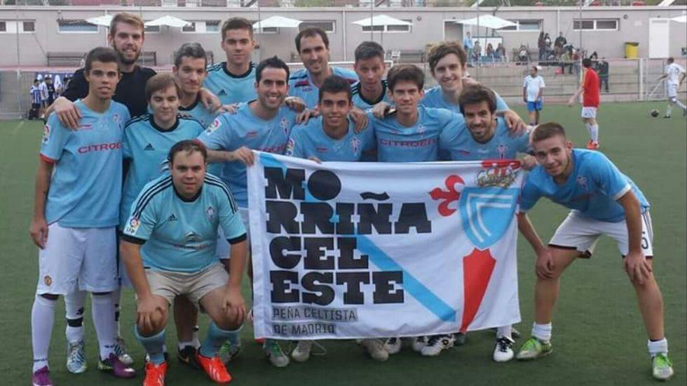 Componentes del equipo de fútbol de Morriña Celeste.