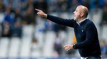 Javi Rozada durante el Real Oviedo-Albacete