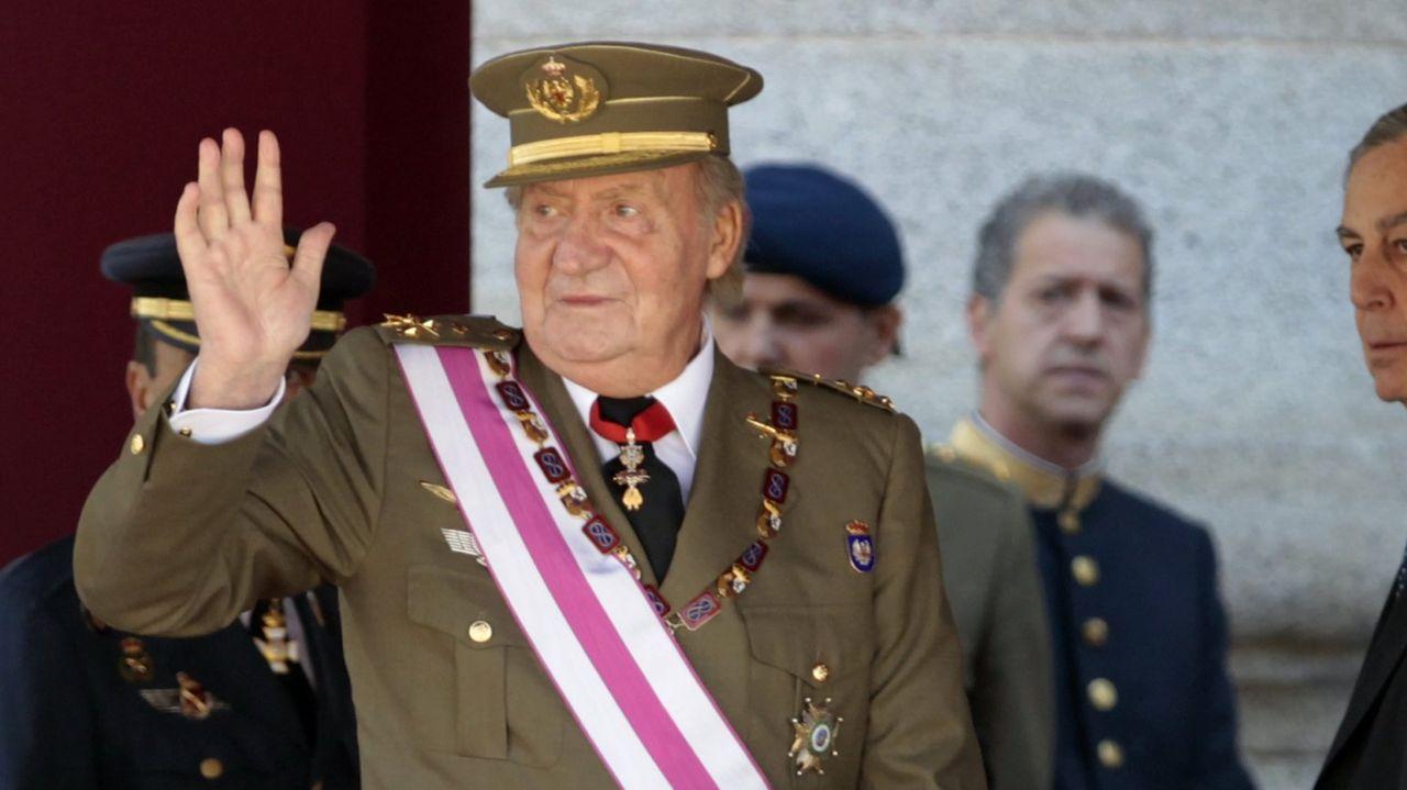 El rey Juan Carlos en el año  2014
