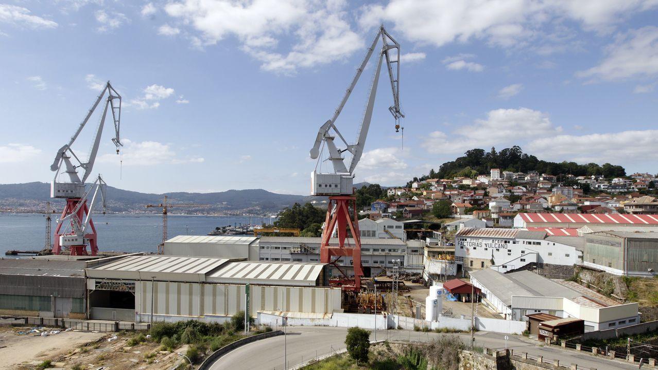 astilleros Vigo.Vista de las instalaciones de Vulcano, hoy
