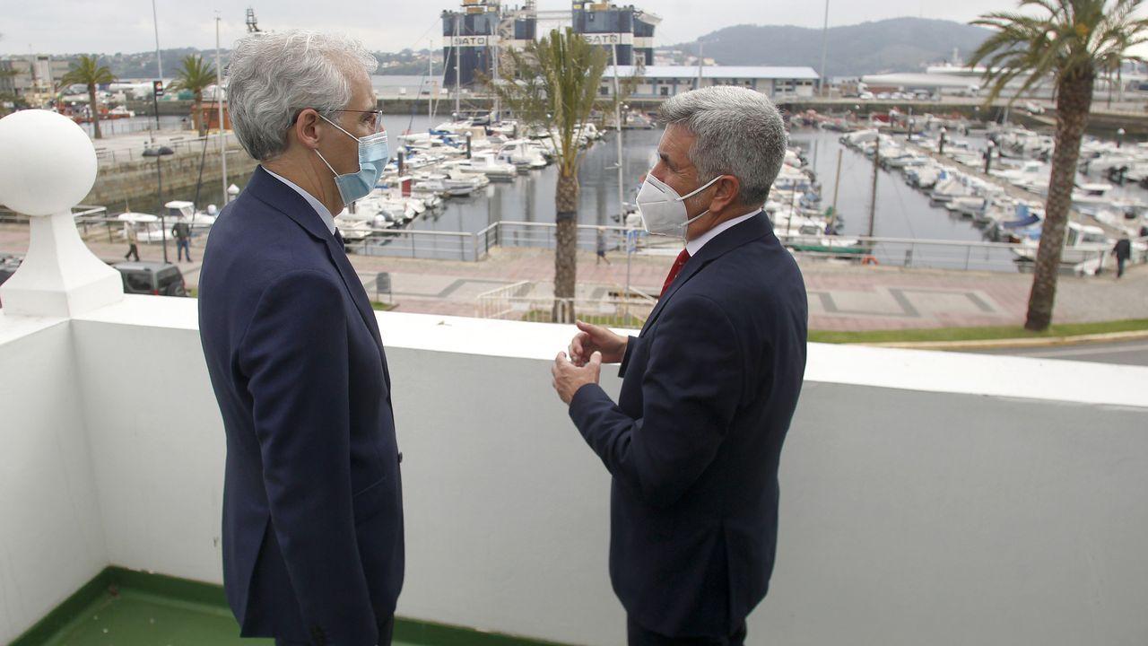 El presidente del Puerto y el conselleiro