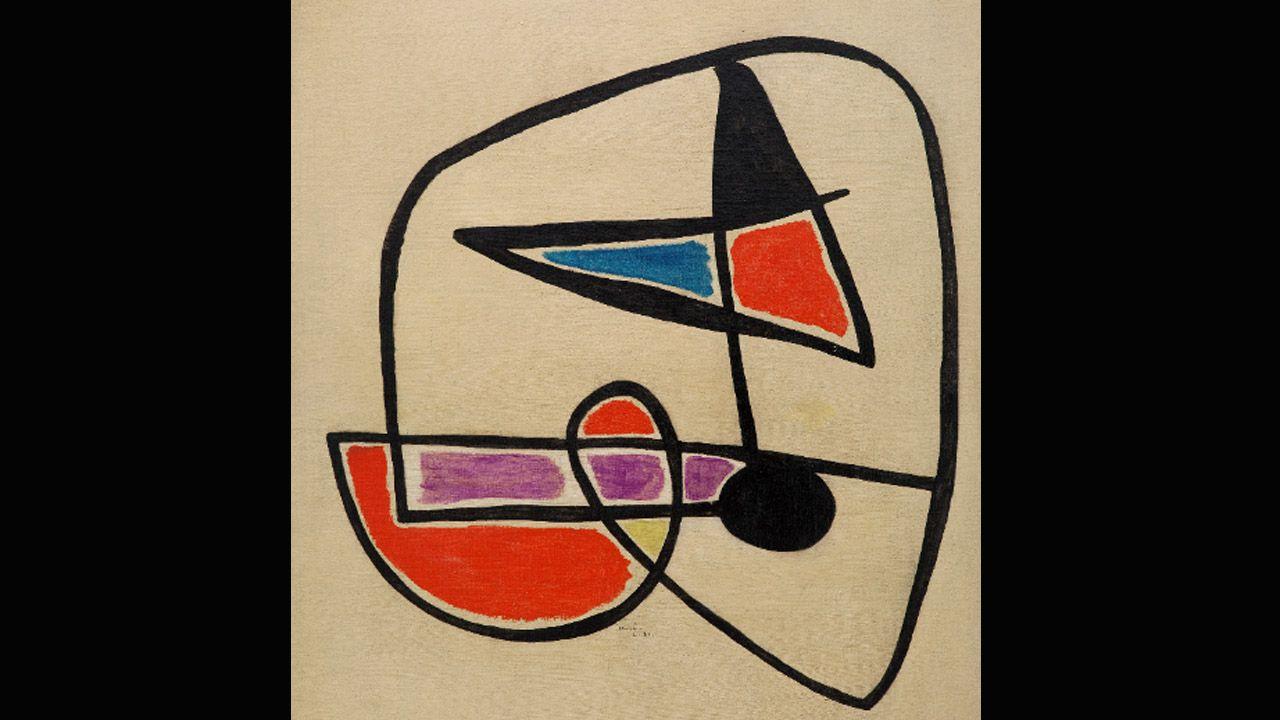 'Tete d'homme', una de las pinturas de Joan Miró que colgará el museo asturiano este cuatrimestre