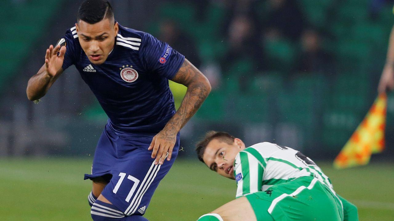 Lo mejor del Granada - Deportivo, en imágenes.Nahuel, en un partido de la Liga Europa con el Olimpiakós contra el Betis