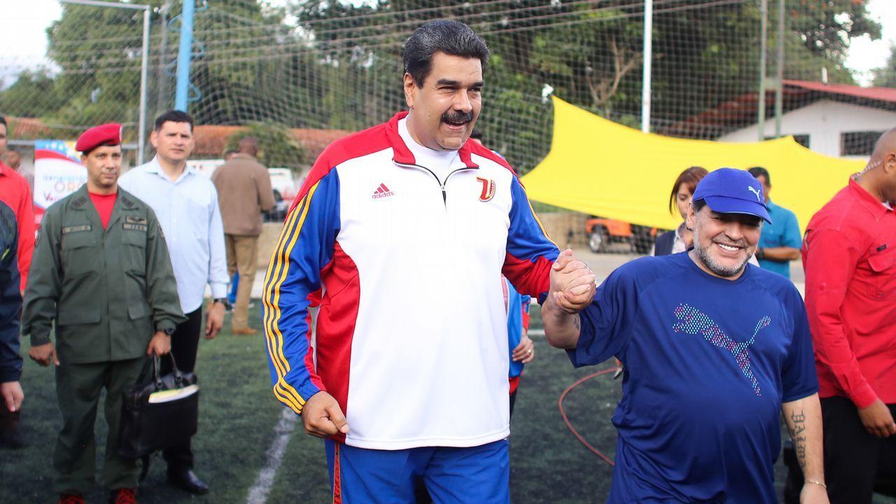 Maduro y Maradona, juntos en Caracas