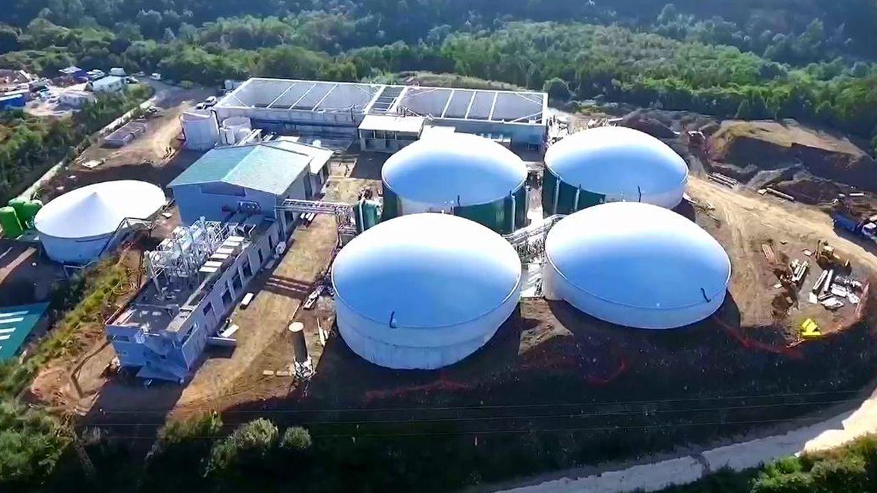 Planta debiogas de Navia biogastur purines.Biogastur
