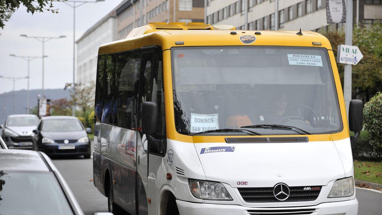pasajero, autobús, bus, Asturias.El consejero de Ciencia, Innovación y Universidad del Principado de Asturias, Borja Sánchez, se somete a un control de su temperatura corporal al entrar a la empresa Olmar