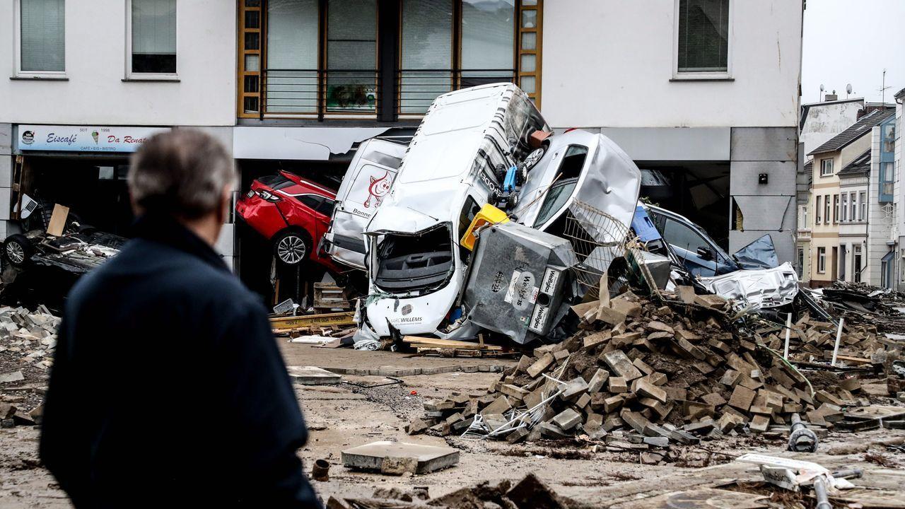 Catástrofe en Alemania.Imagen de archivo de un laboratorio