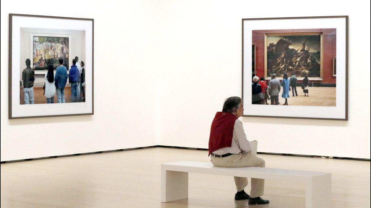 La muestra incluye una serie de fotografías tomadas por Struth en museos