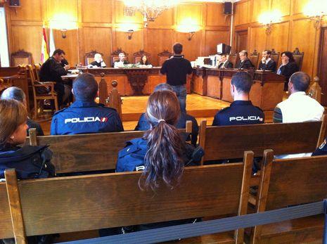 Comparecencia del guardia civil ante los magistrados de la Audiencia