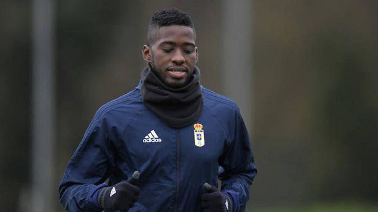 Olmes Garcia Requexon Real Oviedo.Olmes, durante un entrenamiento