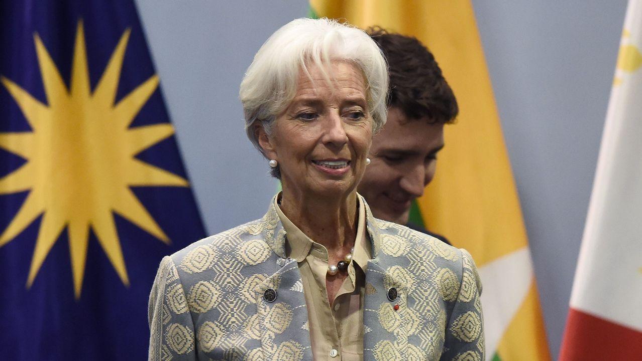 Aspirantes a dirigir los puestos más relevantes de la UE.El equipo de Lagarde ha rebajado dos décimas, al 2'5%, la previsión de crecimiento del 2018