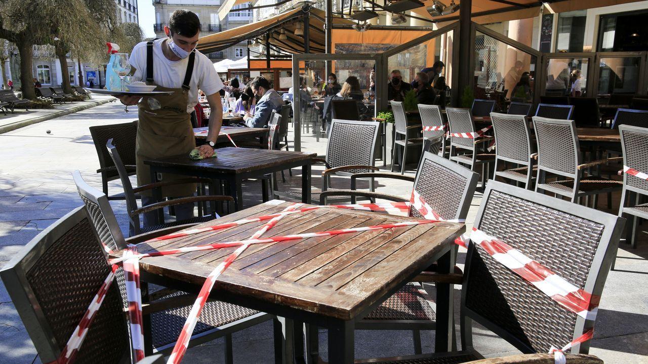 La mitad de las mesas de las terrazas deben estar precintadas para mantener la distancia de seguridad