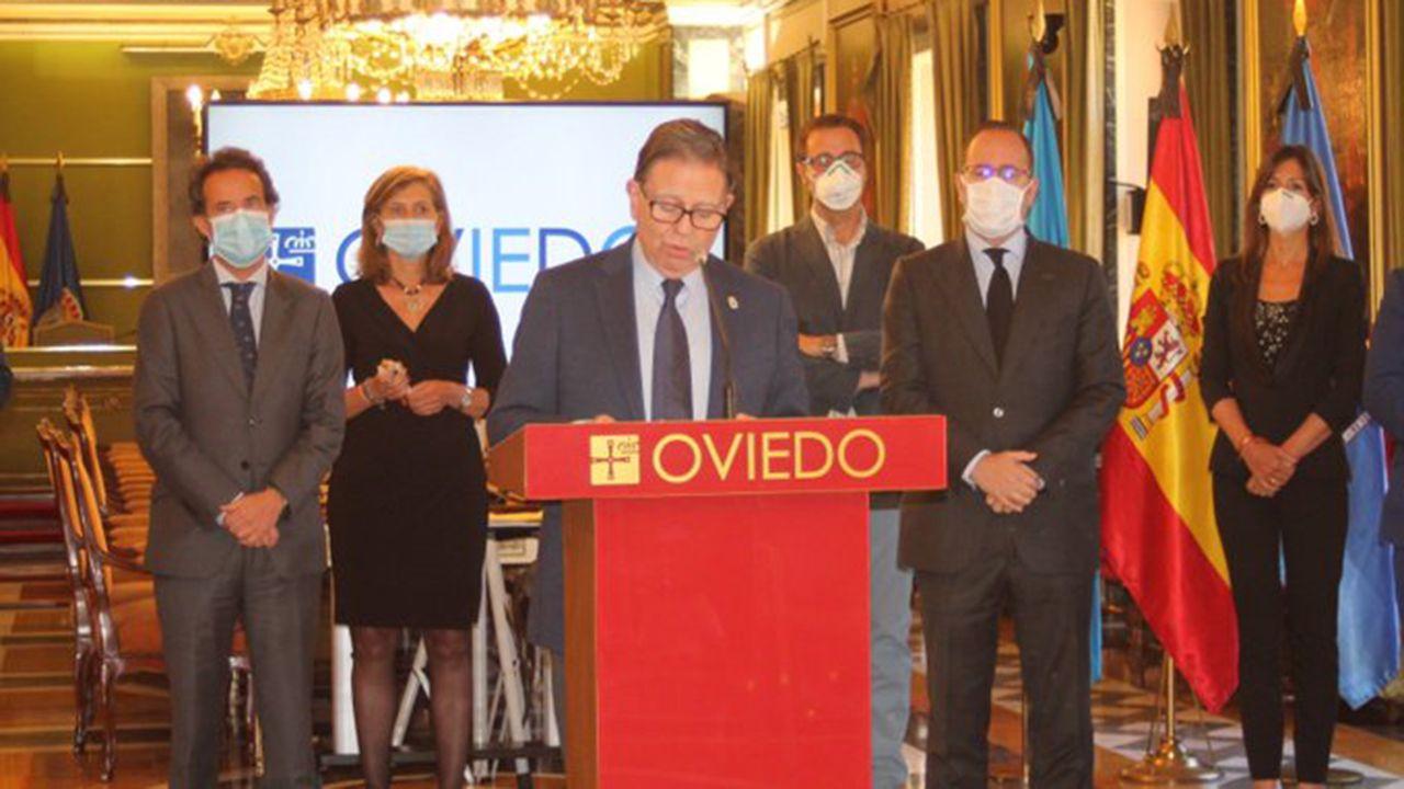 Alfredo Canteli presenta el plan de reactivación económica de Oviedo