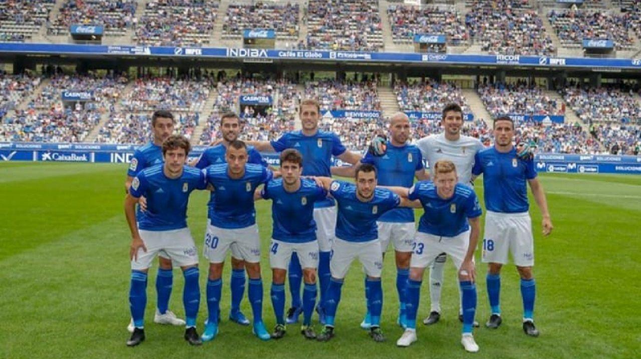 Alineación del Real Oviedo ante el Real Zaragoza