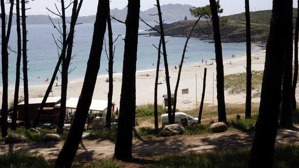 Playa de Melide, en Cangas