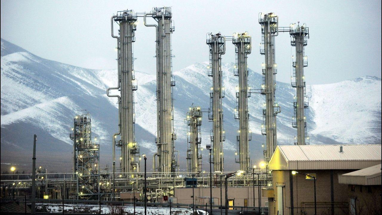 Imagen del reactor de agua pesada de la ciudad de Arak, en Irán